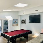 Pool table & TV